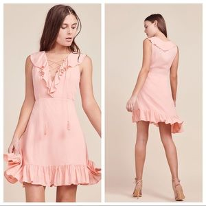 NWT Jack by BB Dakota Helen Dobby Dress Coral Pink